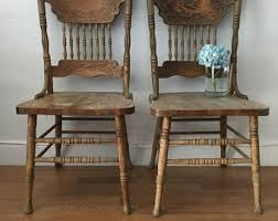 Vintage Oak Dining Chairs Antique Wooden Dining Chairs Interior Design