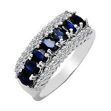 natural rings images Women 39 s natural blue sapphire 925 sterling silver ring mother 39 s jpg