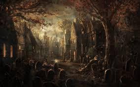 halloween graveyard gothic