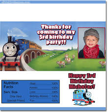 thomas the tank engine birthday invitations candy wrappers thank