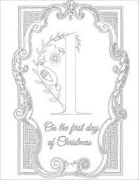 12 days of christmas coloring page st lucy u0027s day the twelve days of christmas and a pomegranate in a