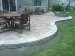 Concrete Patio With Pavers Concrete Paver Patio Ideas