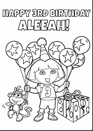 impressive dora the explorer and puppy coloring pages with dora