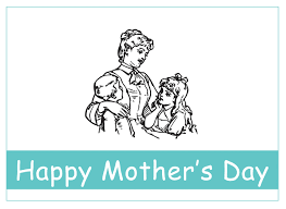 kids vintage printable mother u0027s day card to color the graphics