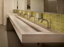 Commercial Bathroom Design Print Of Troff Sink One Sink For Many Users Bathroom Design
