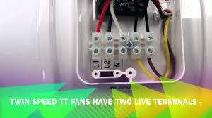 wiring a tt fan youtube