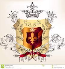 wappen designer heraldisches design mit wappen kronen vektor abbildung bild
