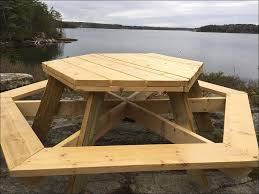 exteriors hexagon shaped picnic table indoor picnic table