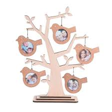 Gifts For Home Decoration Family Tree Decoration Wood Multi 2x2 Round Picture Frame With 5