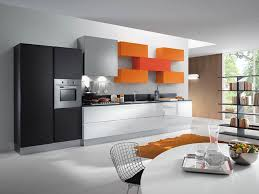 ultra modern kitchens modern kitchen with orange cabinet decor and appliance