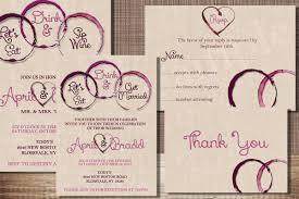 wine wedding invitation pack rehearsal invite rsvp