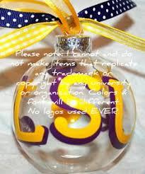 louisiana state tigers footbells ornament