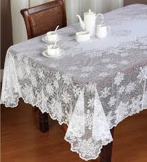 Dining Room Table Cloths Dining Room Ocean Blue Lace Tablecloths With Glass