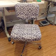 office chair seat and back covers with monogram dorm chair