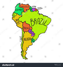 Maps Of South America by Cartoon Map South America Stock Vector 371521006 Shutterstock