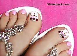 to do a crystal nail art pedicure at home