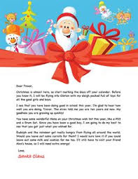 personalized letter from santa free santa letter christmas free letter
