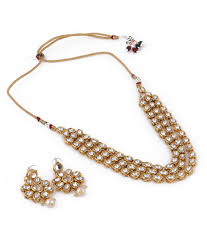 necklace jewellery set images Aradhya kundan jewellery set necklace set with earrings for JPG