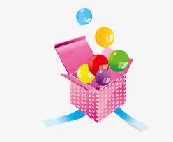 vector open gift box vector cartoon pattern open the gift box