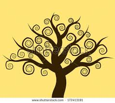 tree spiral branches stock vector 171046793