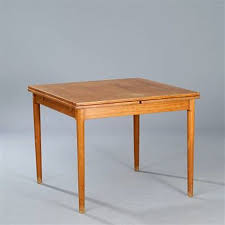 table with slide out leaves square dining table with pull out leaves by kaj winding on artnet