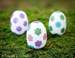 glitter easter eggs easter egg crafts flower glitter easter eggs a pumpkin and a