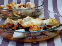 cuisiner des courgettes light cabillaud et crevettes à la mozzarella sur lit de courgettes light