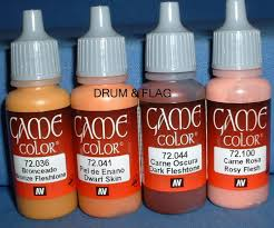 vallejo game color paint skin flesh faces combo b 4 x 17ml
