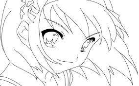 picture main character harhi suzumiya anime colouring