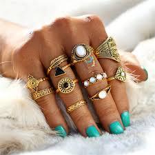 knuckle rings images Vintage crystal opal knuckle rings 10pcs startworldshop jpg