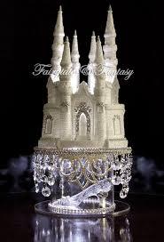 castle cake topper cinderella castle cake topper wedding fairytale with swarovski