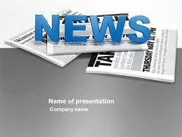 newspaper powerpoint template backgrounds 03778