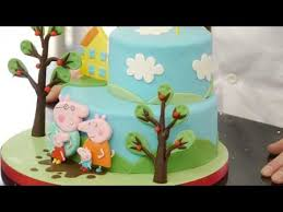 peppa pig cake tutorial overview youtube