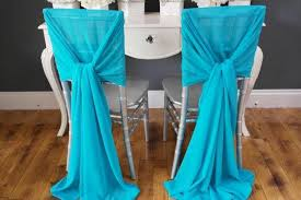 cheap sashes for chairs 2017 soft blue chiffon wedding chair covers and sashes 2015 new