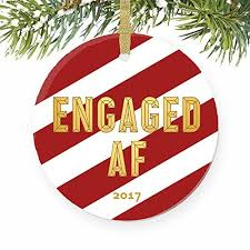 engaged af ornament engagement gifts for