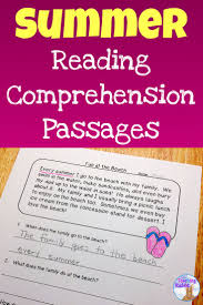 thanksgiving comprehension passages summer reading comprehension passages students and