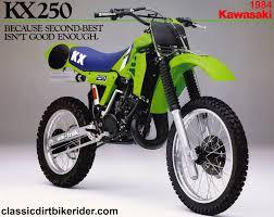 best 2 stroke motocross bike kawasaki kx250 1980 89 spotters guide classicdirtbikerider com