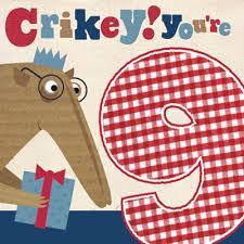 anteater crikey you u0027re 9 birthday card karenza paperie