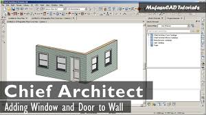 chief architect adding windows and door basic tutorial youtube