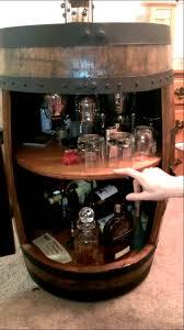 Building A Liquor Cabinet Whiskey Barrel Liquor Cabinet Youtube