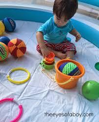 backyard sensory fun for toddlers the eyes of a boy