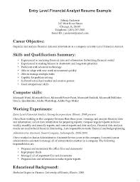 entry level resumes exles entry level resume objective exles accounting objective resume