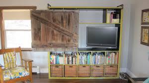 expedit bookshelf turned rustic tv cabinet bookshelf ikea