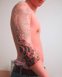 dragon forearm tattoos koi tattoo wrapped around the elbow dragon sleeve tattoos