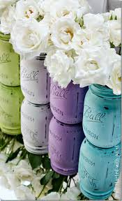 Rustic Vases For Weddings How To Paint And Distress Mason Jars