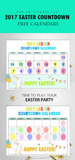 free printable easter countdown calendar 2017