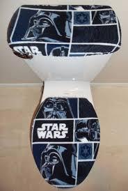 Star Wars Bathroom Set Wars Darth Vader Fleece Fabric Toilet Seat Cover Set Bathroom