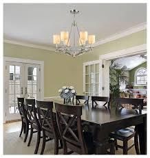 Dining Room Chandeliers Transitional Elk Lighting 10167 6 Easton Polished Nickel 6 Light Chandelier