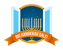 hanukkah candles for sale happy hanukkah sale emblem design stock vector illustration of