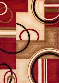 odd size area rugs zipcode design daniel red arcs u0026 shapes area rug u0026 reviews wayfair